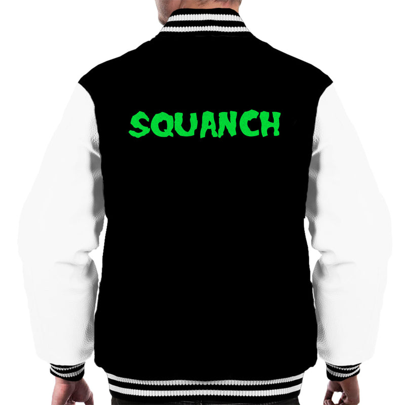 Rick and Morty Inspired Squanch Green Men's Varsity Jacket - NME Merch