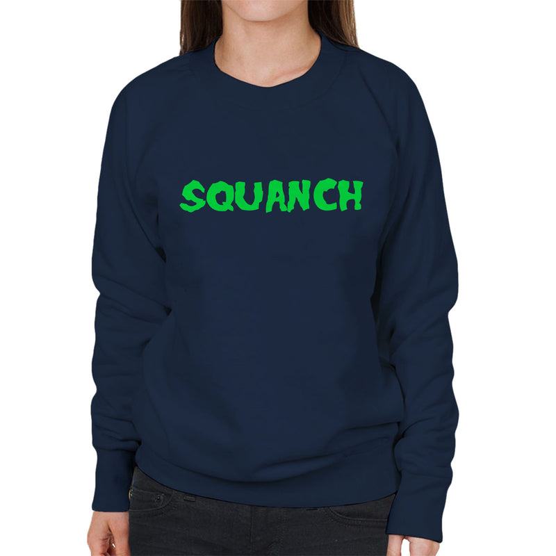 Rick and Morty Inspired Squanch Green Women's Sweatshirt - NME Merch