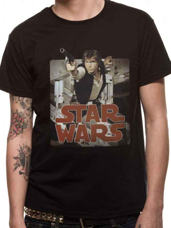 Star Wars Han Solo Retro Graphic Men's T-Shirt - NME Merch
