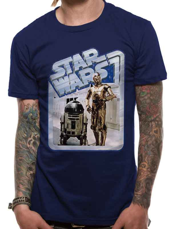 Star Wars Droids Retro Badge Graphic Men's T-Shirt - NME Merch