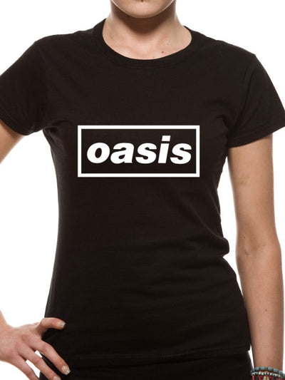 Oasis Logo Women's Black T-Shirt - NME Merch