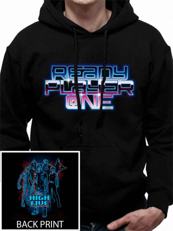 Ready Player One The High Five Men's Hooded Sweatshirt - NME Merch