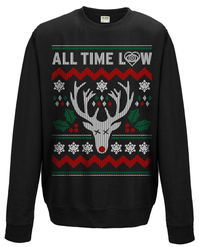 All Time Low Christmas Reindeer Sweatshirt - NME Merch