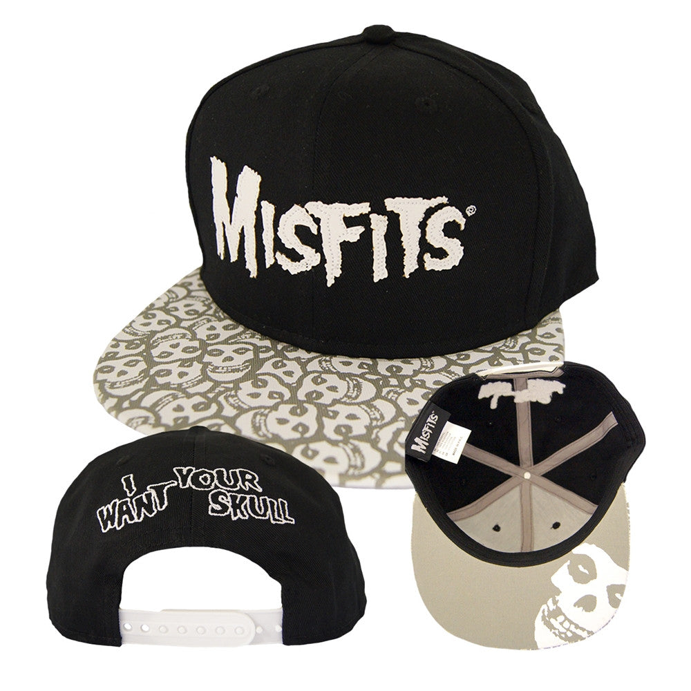 Misfits I Want Your Skull Baseball Cap