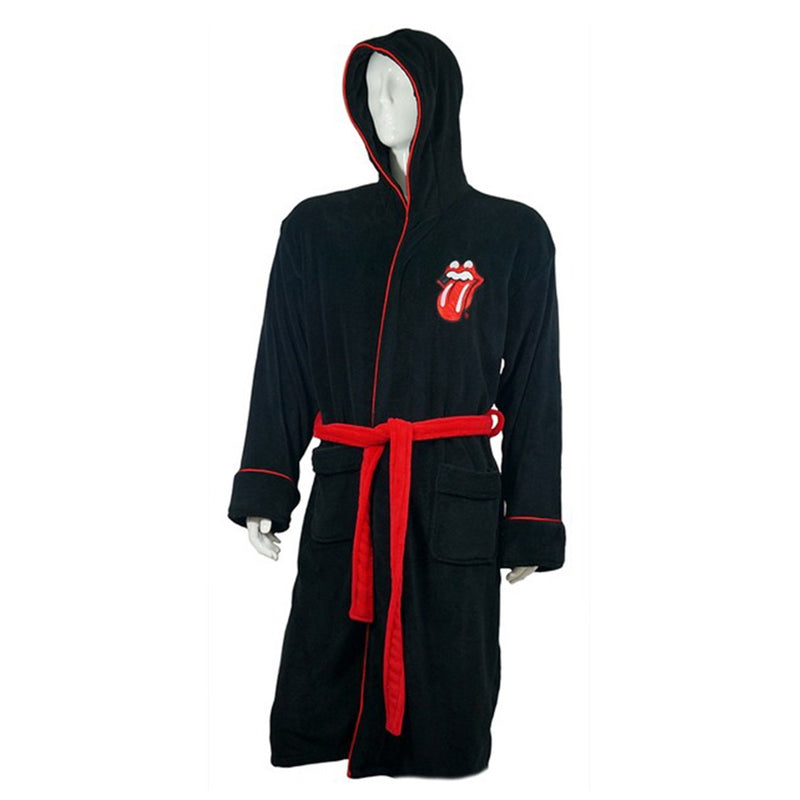 The Rolling Stones Tongue Unisex Fleece Bathrobe - NME Merch
