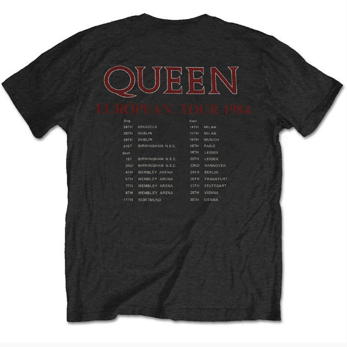 Queen Special Edition Tours That Rocked The World: European Tour 1984 Men's T-Shirt - NME Merch