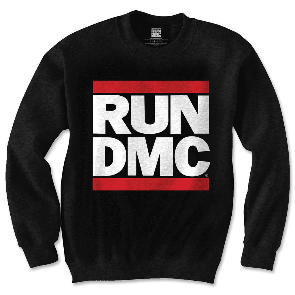 Run DMC Classic Logo Black Men's Sweatshirt