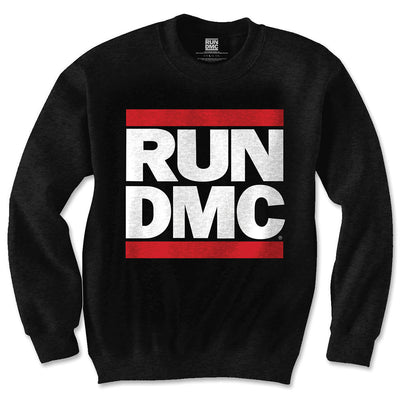 Run DMC Classic Logo Black Men's Sweatshirt - NME Merch