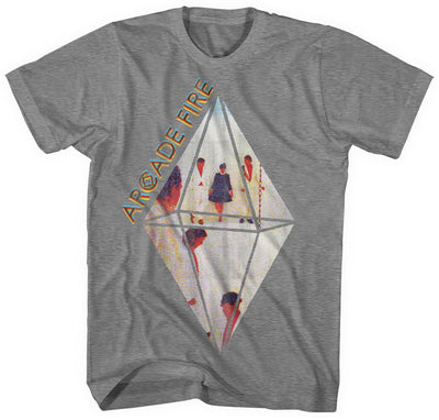 Arcade Fire Grey Diamond Men's T-Shirt - NME Merch