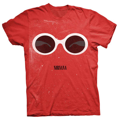 Nirvana Red Sunglasses T Shirt - NME Merch