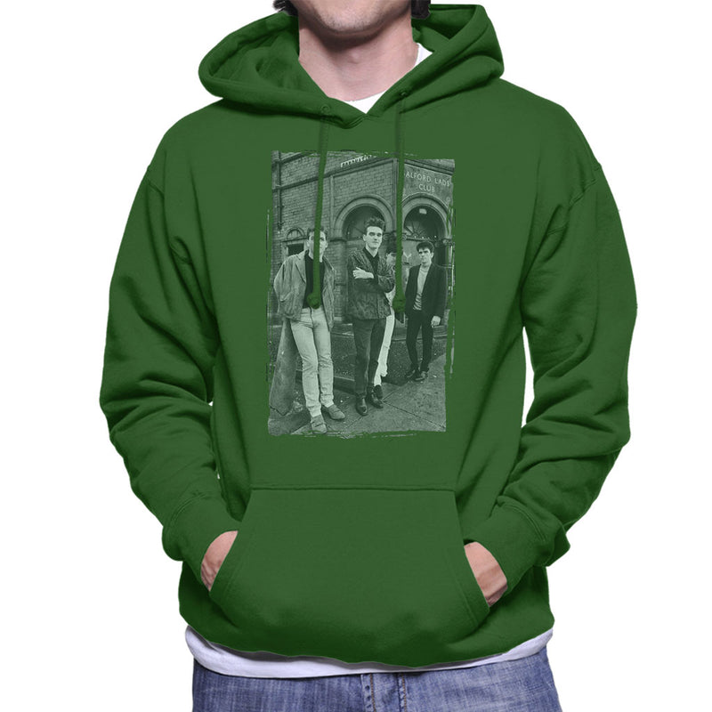 The Smiths In Manchester At Salford Lads Club Distressed Frame Men's Hooded Sweatshirt