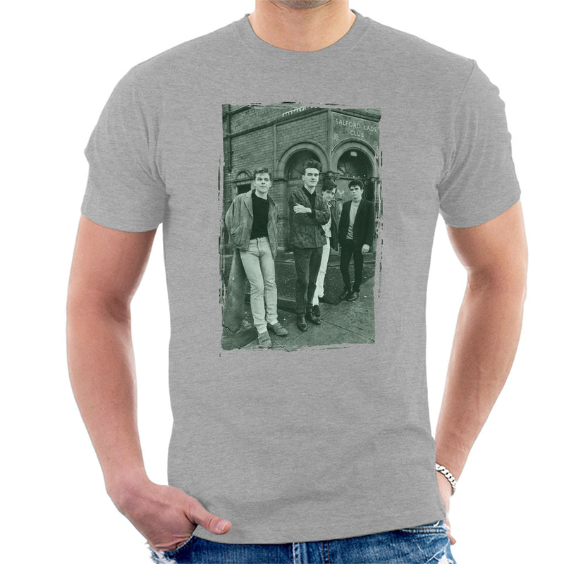 The Smiths In Manchester At Salford Lads Club Distressed Frame Men's T-Shirt - NME Merch