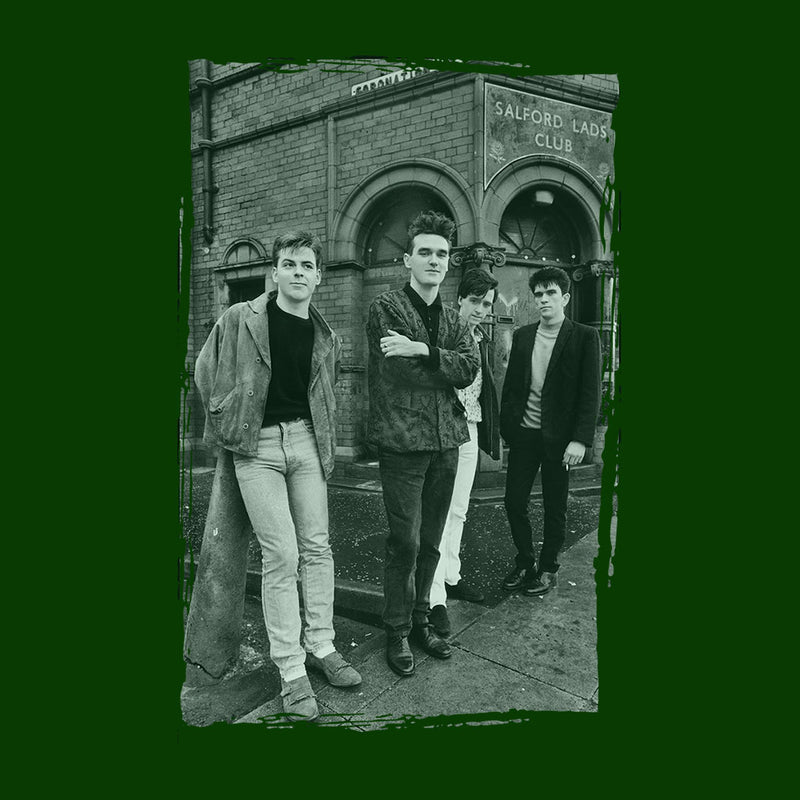 The Smiths In Manchester At Salford Lads Club Distressed Frame Men's Hooded Sweatshirt - NME Merch