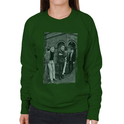 The Smiths In Manchester At Salford Lads Club Distressed Frame Women's Sweatshirt