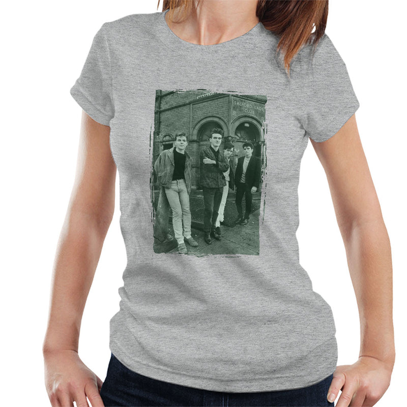 The Smiths In Manchester At Salford Lads Club Distressed Frame Women's T-Shirt - NME Merch