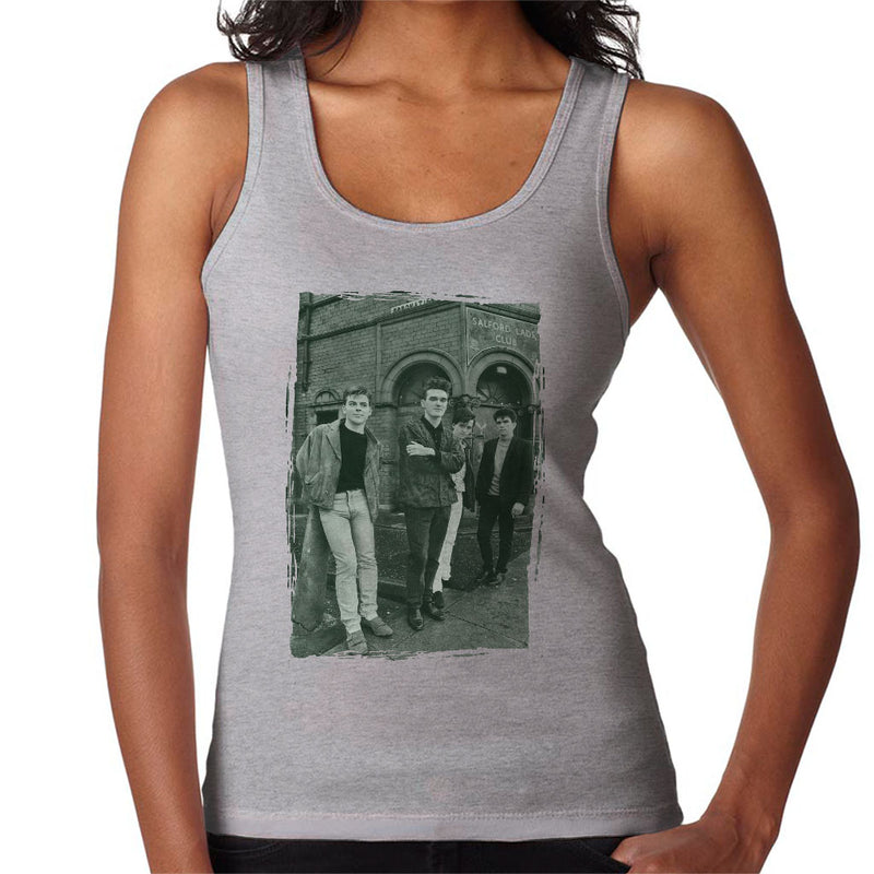 The Smiths In Manchester At Salford Lads Club Distressed Frame Women's Vest - NME Merch