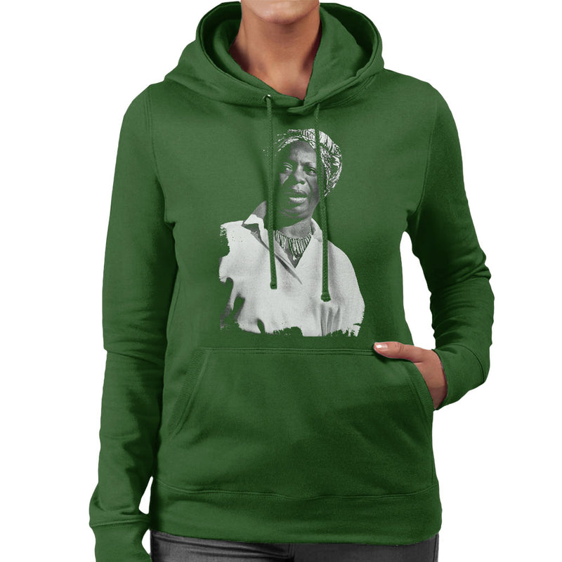 Nina Simone At The Royal Albert Hall 1998 Women's Hooded Sweatshirt - NME Merch