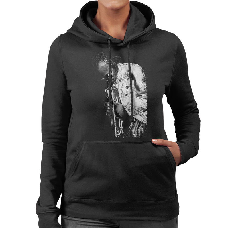 Miles Davis Playing In London 1986 Women's Hooded Sweatshirt