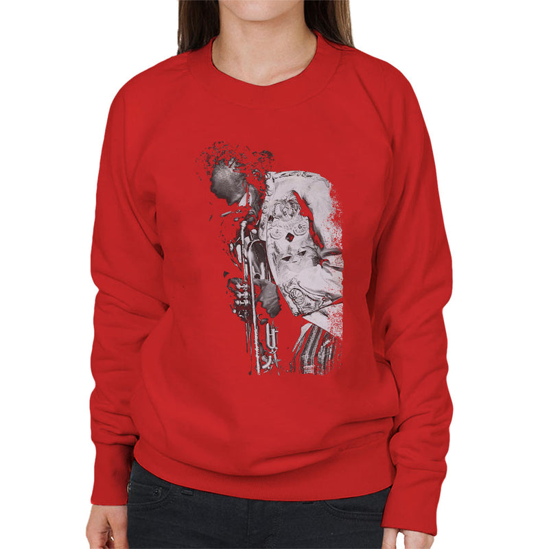 Miles Davis Playing In London 1986 Women's Sweatshirt - NME Merch