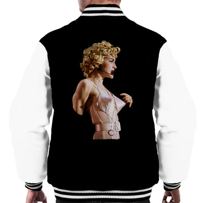 Madonna In Pink Cone Bra Corset Blonde Ambition Tour 1990 Men's Varsity Jacket