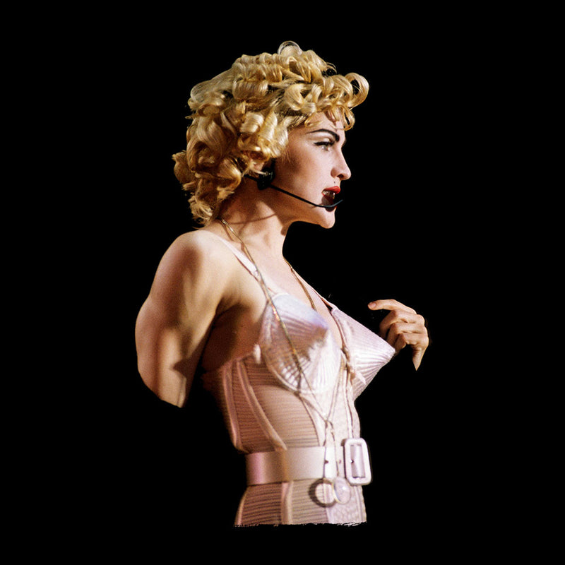 Madonna In Pink Cone Bra Corset Blonde Ambition Tour 1990 Women's Vest - NME Merch