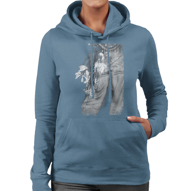 The Smiths Morrissey Flowers In The Back Pocket Women's Hooded Sweatshirt - NME Merch