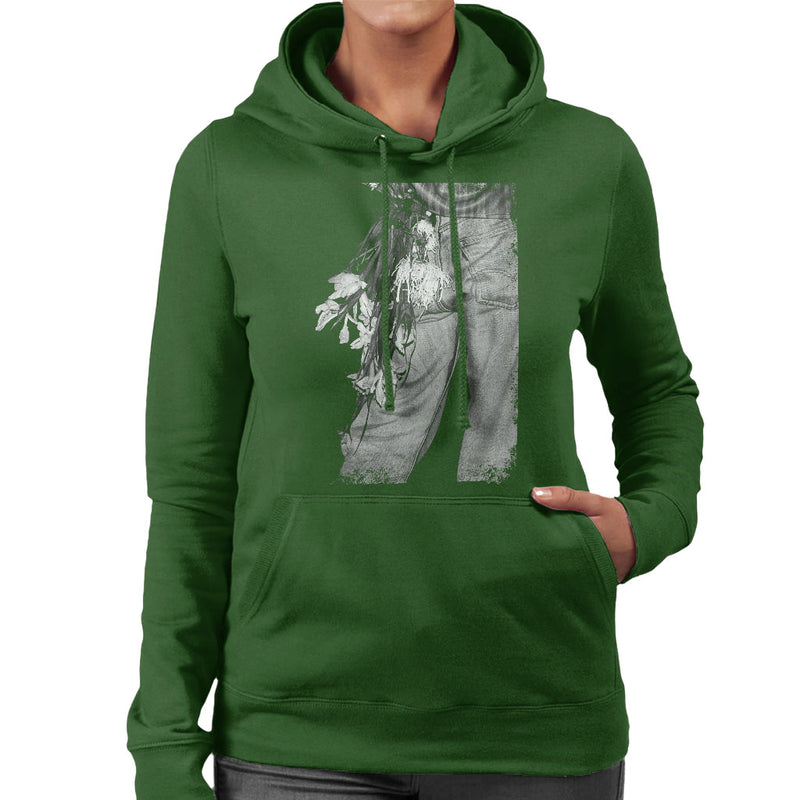 The Smiths Morrissey Flowers In The Back Pocket Women's Hooded Sweatshirt