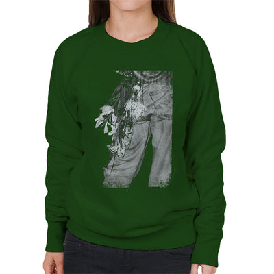 The Smiths Morrissey Flowers In The Back Pocket Women's Sweatshirt