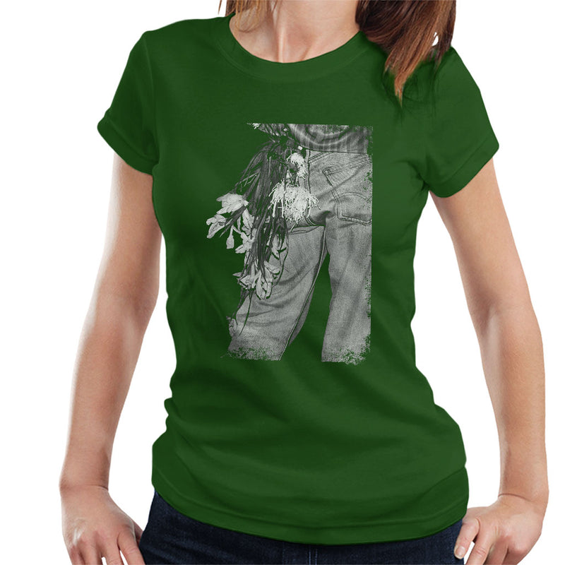 The Smiths Morrissey Flowers In The Back Pocket Women's T-Shirt