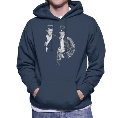 The Smiths Morrissey And Johnny Marr Together Live 1985 Men's Hooded Sweatshirt