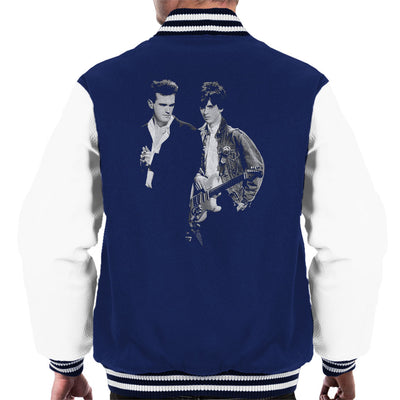 The Smiths Morrissey And Johnny Marr Together Live 1985 Men's Varsity Jacket