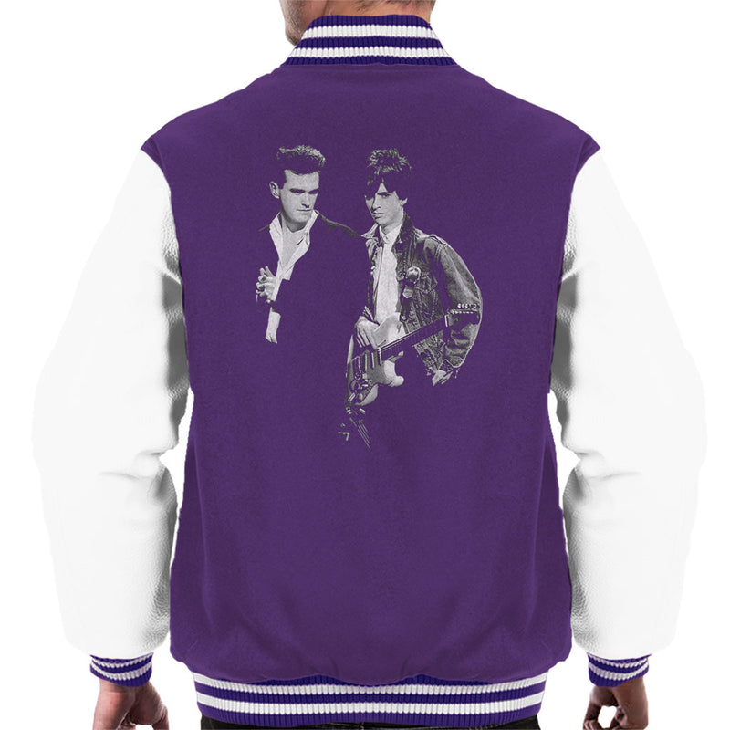 The Smiths Morrissey And Johnny Marr Together Live 1985 Men's Varsity Jacket - NME Merch
