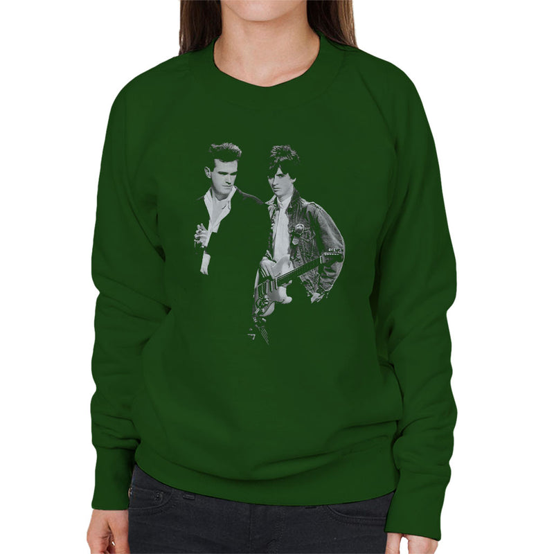 The Smiths Morrissey And Johnny Marr Together Live 1985 Women's Sweatshirt - NME Merch