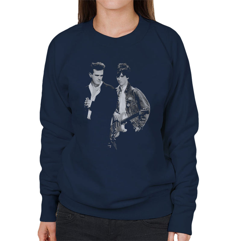 The Smiths Morrissey And Johnny Marr Together Live 1985 Women's Sweatshirt