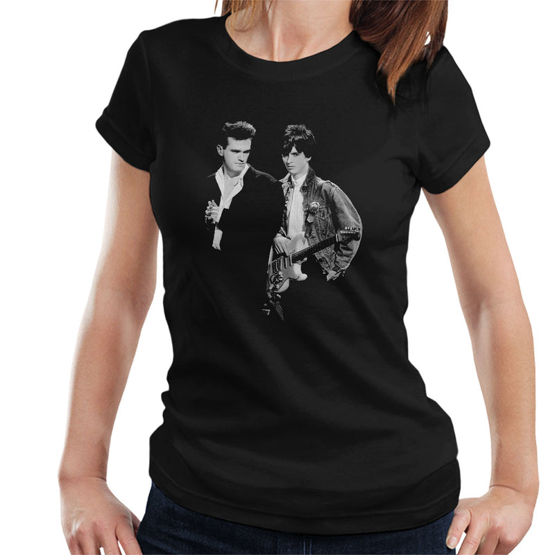 The Smiths Morrissey And Johnny Marr Together Live 1985 Women's T-Shirt - NME Merch