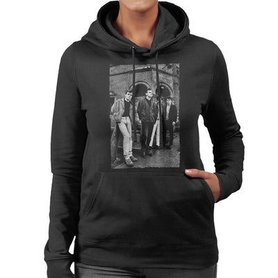 The Smiths In Manchester At Salford Lads Club 1985 Women's Hooded Sweatshirt
