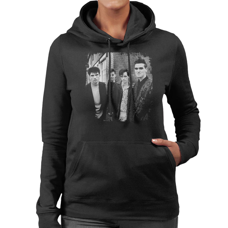 The Smiths Salford Lads Club Shoot Street Shot 1985 Women's Hooded Sweatshirt - NME Merch