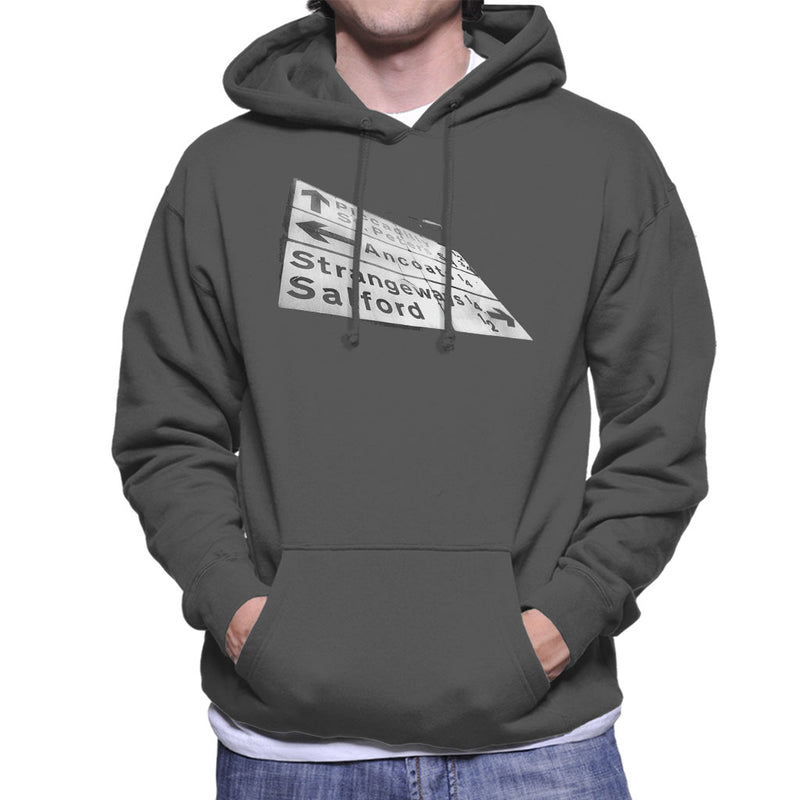 Manchester Road Signs 1985 Men's Hooded Sweatshirt - NME Merch