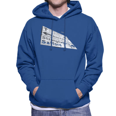 Manchester Road Signs 1985 Men's Hooded Sweatshirt
