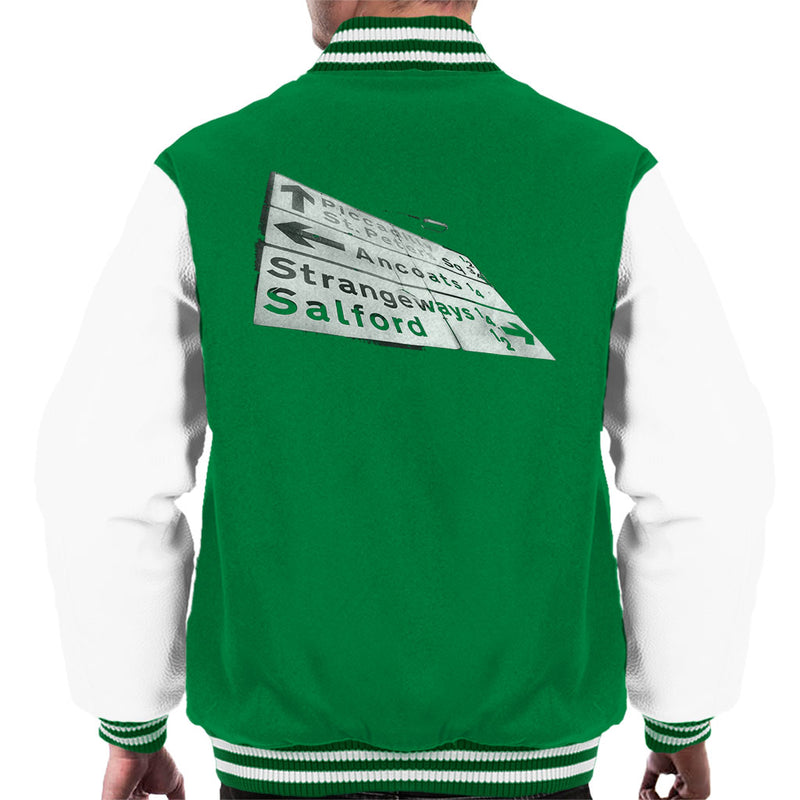 Manchester Road Signs 1985 Men's Varsity Jacket - NME Merch