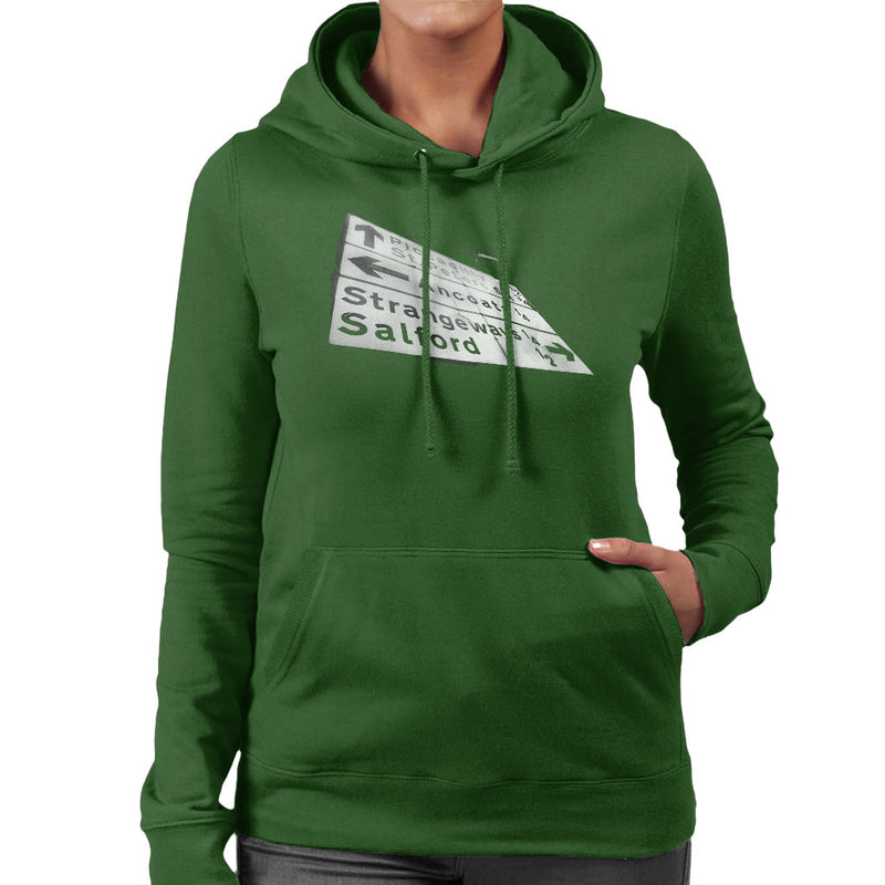 Manchester Road Signs 1985 Women's Hooded Sweatshirt - NME Merch