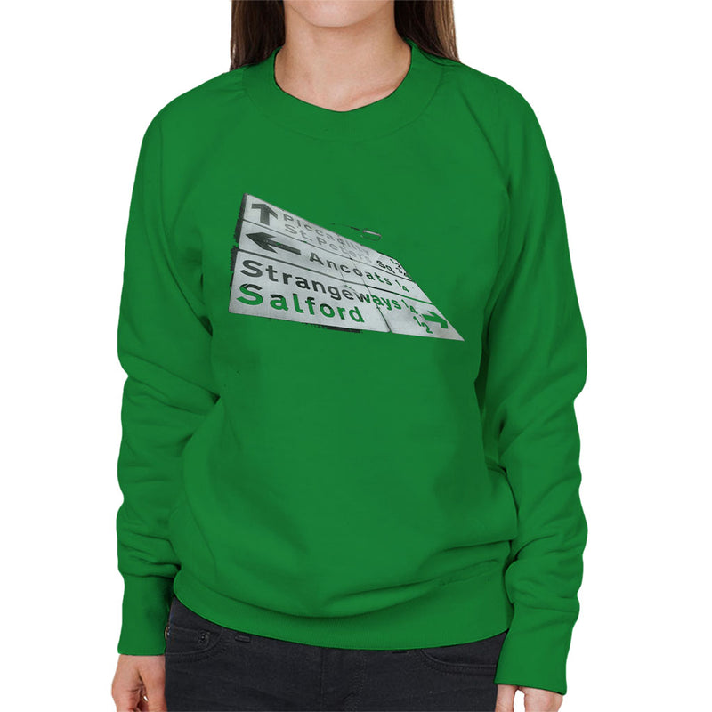 Manchester Road Signs 1985 Women's Sweatshirt - NME Merch