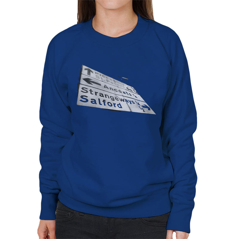 Manchester Road Signs 1985 Women's Sweatshirt