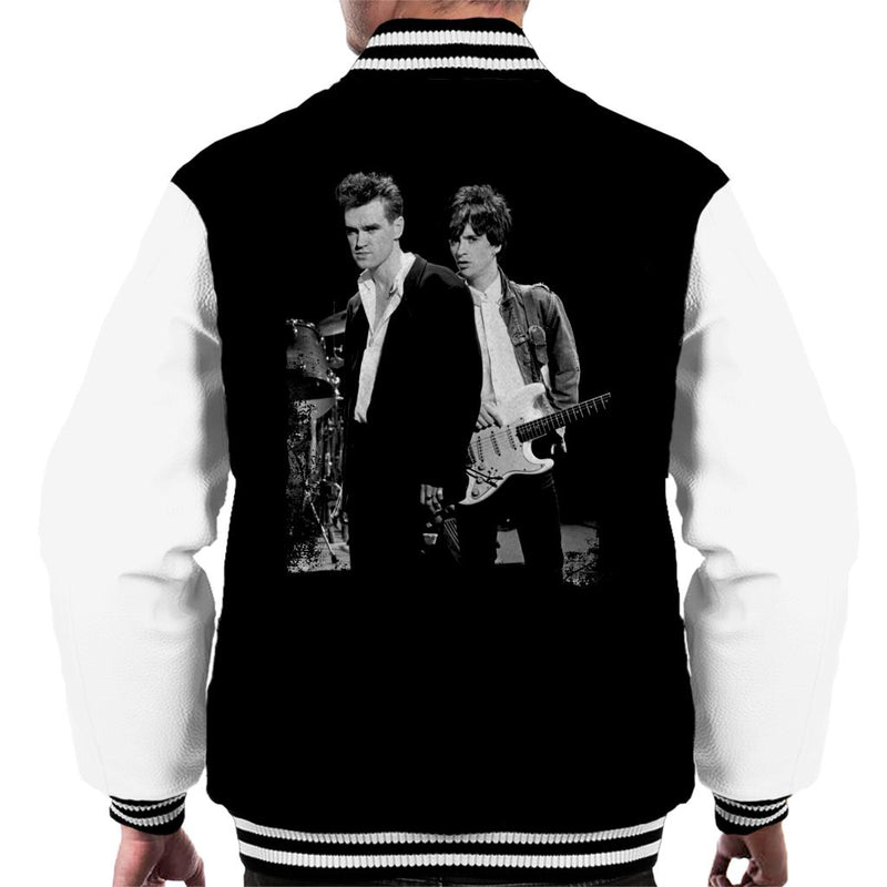 Morrissey And Johnny Marr Of The Smiths 1985 Men's Varsity Jacket - NME Merch