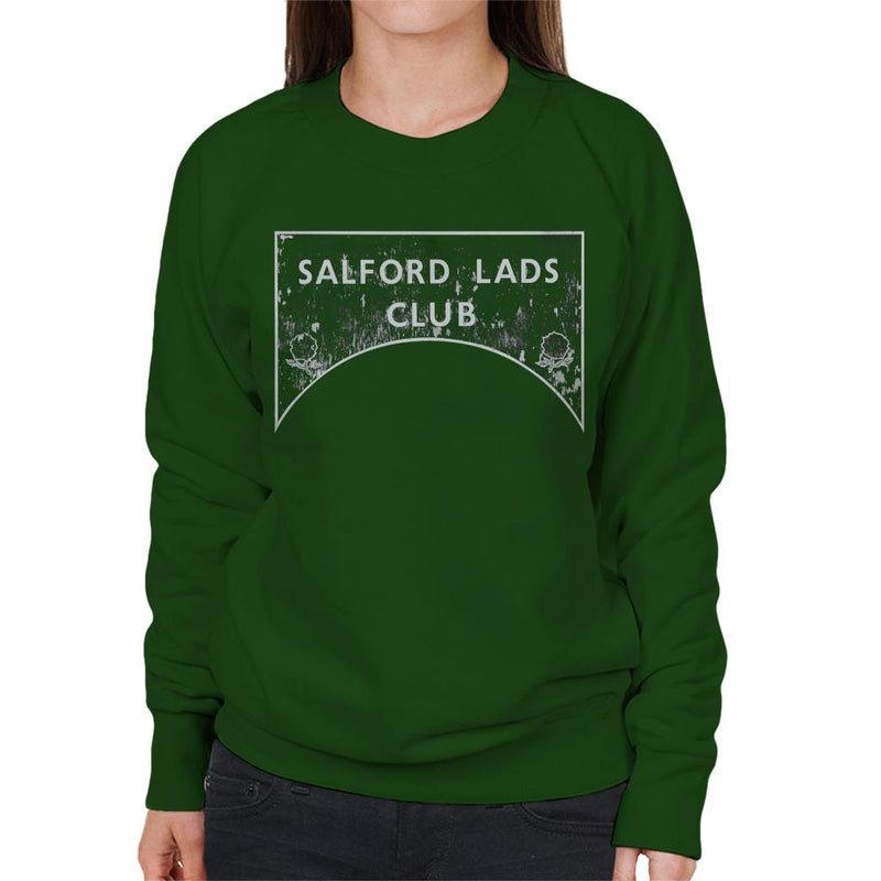 Salford Lads Club Sign Greyscale Women's Sweatshirt - NME Merch