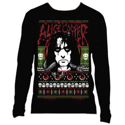 Alice Cooper Christmas Men's Sweatshirt - NME Merch