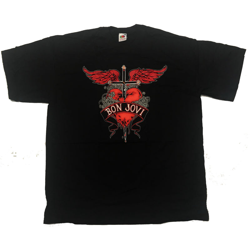 Bon Jovi Heart And Dagger Mens T-Shirt - NME Merch