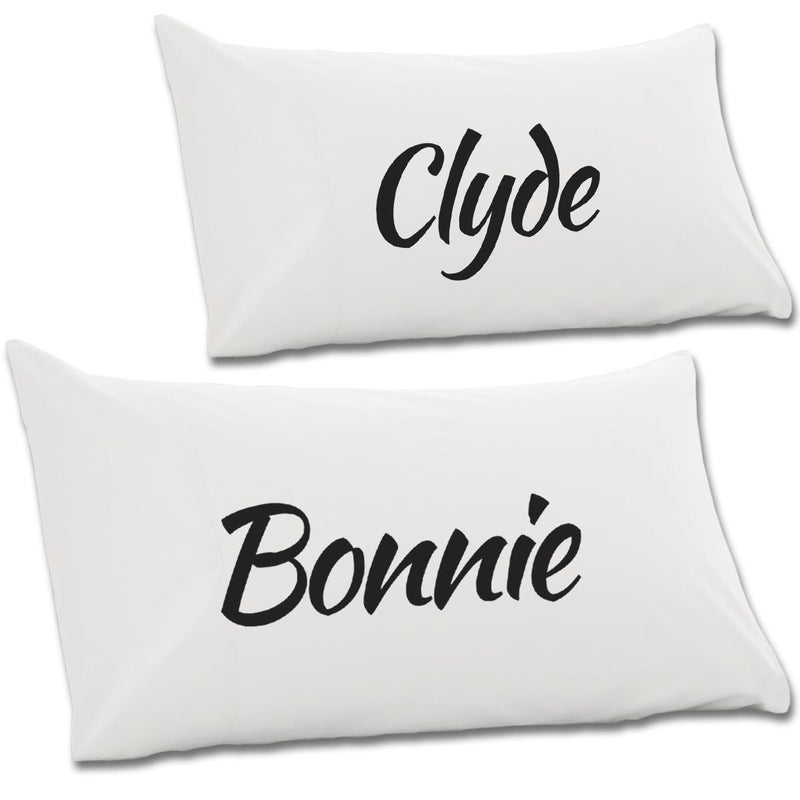 Bonnie & Clyde Pair Of Pillow Cases