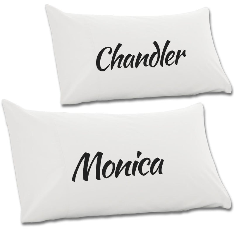 Monica & Chandler Pair Of Pillow Cases