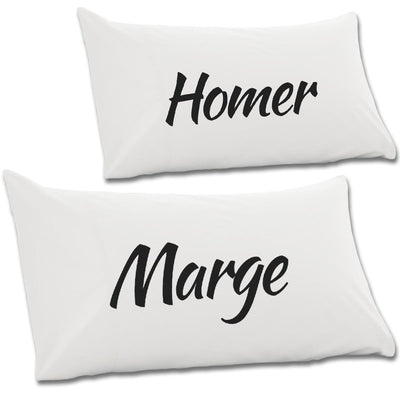 Marge & Homer Pair Of Pillow Cases - NME Merch
